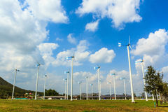 Wind turbines generating electricity Royalty Free Stock Photos