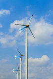 Wind turbines generating electricity Stock Photography