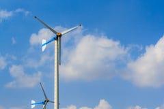 Wind turbines generating electricity Stock Image