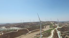 Wind Turbines Generating Electricity stock video footage