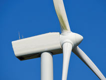 Wind turbines generating electricity. Alternative renewable energy stock photos