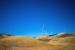 Wind turbines generating electricity Stock Images