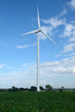 Wind turbines generating electricity. energy conservation concept stock image