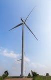 Wind turbines generating electricity Stock Photos