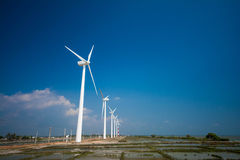 Wind turbines generating electricity in Sri Lanka Royalty Free Stock Photography