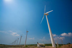 Wind turbines generating electricity in Sri Lanka royalty free stock images