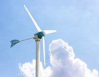 Wind turbines generating electricity. In Thailand, Leamchabang stock photography