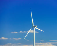 Wind turbines generating electricity in windfarm. Loraine, France royalty free stock photo