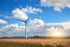 Wind turbines generating electricity Stock Photos