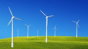 Wind turbines generating power