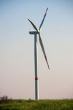 Wind turbines or generator generating electricity. Eco power royalty free stock image
