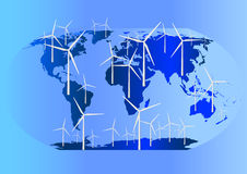 Wind Turbines Globally Stock Image