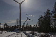 Wind turbines for green energy Royalty Free Stock Image