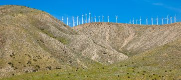 Wind Turbines on a Hill Stock Photos