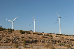 Wind Turbines on a Hill Royalty Free Stock Photo