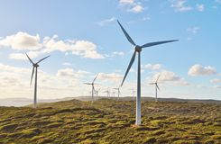Wind Turbines on Hill Royalty Free Stock Image