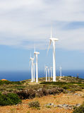 Wind Turbines on a Hill Stock Image