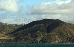 Wind Turbines on hillside Royalty Free Stock Photography