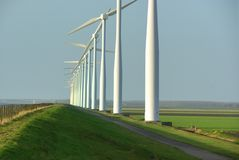 Wind turbines, Holland Royalty Free Stock Photo