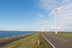 Wind turbines in Holland Stock Images