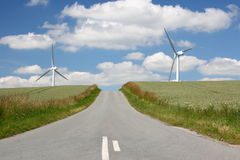 Wind Turbines In Denmark Royalty Free Stock Photography
