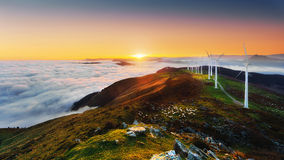 Free Wind Turbines In Oiz Eolic Park Royalty Free Stock Image - 70887686