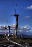 Wind turbines in israel Stock Images