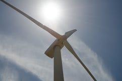 Wind turbines in Italy. Italy. Wind turbines in wind farm in Sedini, Sardinia Royalty Free Stock Image