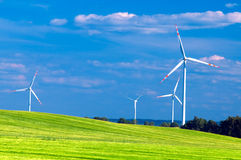 Wind turbines landscape Stock Image