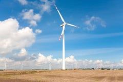 Wind turbines landscape Royalty Free Stock Image