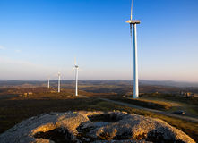 Wind turbines in a landscape Stock Photography