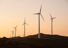 Wind turbines in a landscape Royalty Free Stock Photography