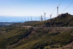 Wind turbines landscape Stock Photography