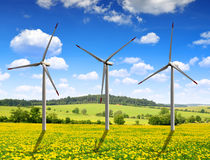 Wind turbines Royalty Free Stock Image