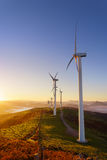 Wind turbines. On the mountain Royalty Free Stock Image
