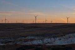 Wind Turbines. Near Calhan, Colorado Stock Images