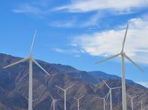 Wind turbines. Near Palm Springs, California Stock Image