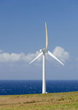 Wind turbines near Upolu Point, Big Island, Hawaii Stock Photos