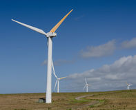 Wind turbines near Upolu Point, Big Island, Hawaii Stock Images