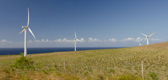 Wind turbines near Upolu Point, Big Island, Hawaii Stock Photography