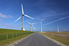 Wind turbines in the Netherlands Stock Images