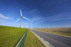 Wind turbines in the Netherlands Royalty Free Stock Image