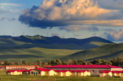 Wind turbines in north china Stock Images
