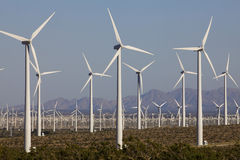 Wind Turbines On Alternative Energy Windmill Farm Royalty Free Stock Photography