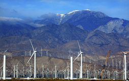 Wind Turbines Palm Springs California Royalty Free Stock Photo