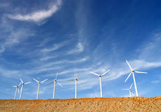 Wind Turbines, Palm Springs, California, USA Royalty Free Stock Photography