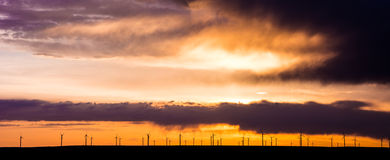 Wind Turbines on the Plains Royalty Free Stock Photos
