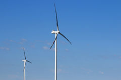 Wind turbines power and energy Stock Photography