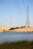 Wind Turbines and Power Lines Royalty Free Stock Image
