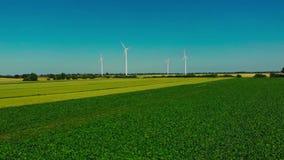 Wind turbines. stock video footage